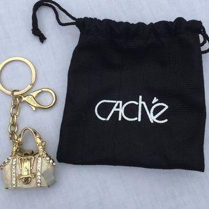 Cache | Rhinestone Purse Keychain